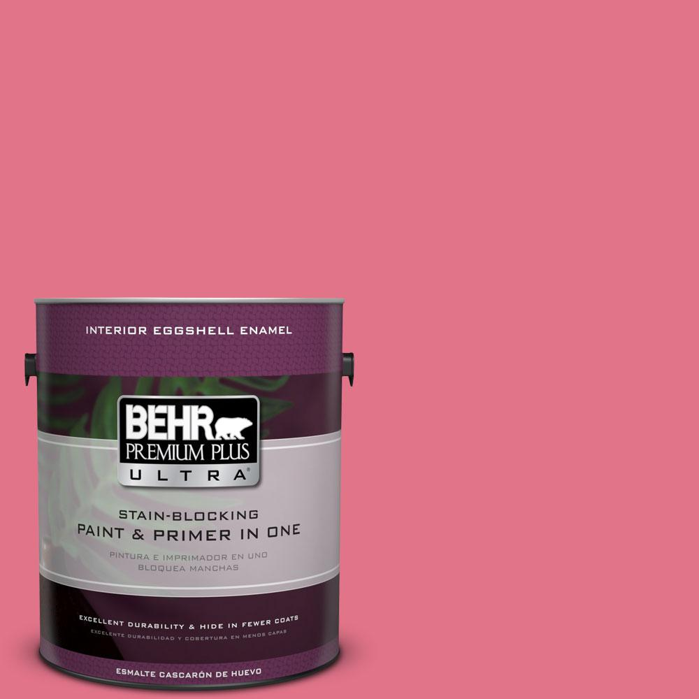BEHR Premium Plus Ultra 1-gal. #120B-6 Watermelon Pink Eggshell Enamel Interior Paint