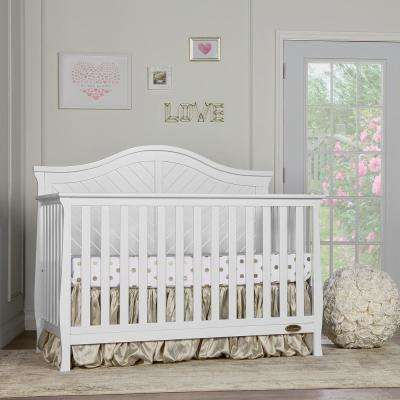 Kaylin White 5 in 1 Convertible Crib