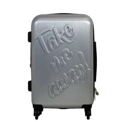 Take Me Away 25 in. Silver Rolling Luggage Suitcase