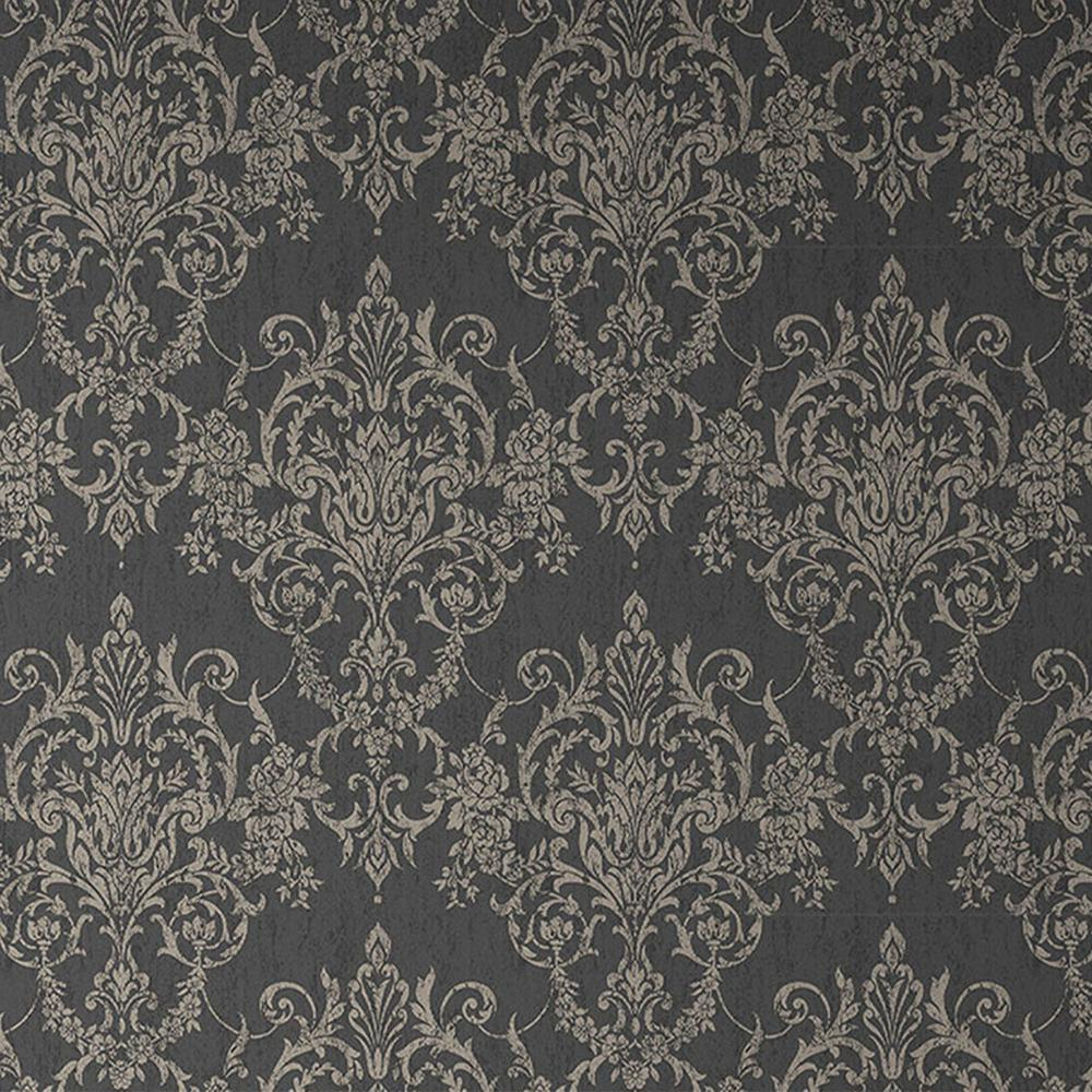 Graham & Brown Empress Victorian Damask Black/Gold