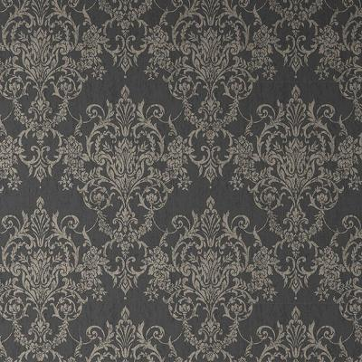Empress Victorian Damask Black/Gold Removable Wallpaper Sample