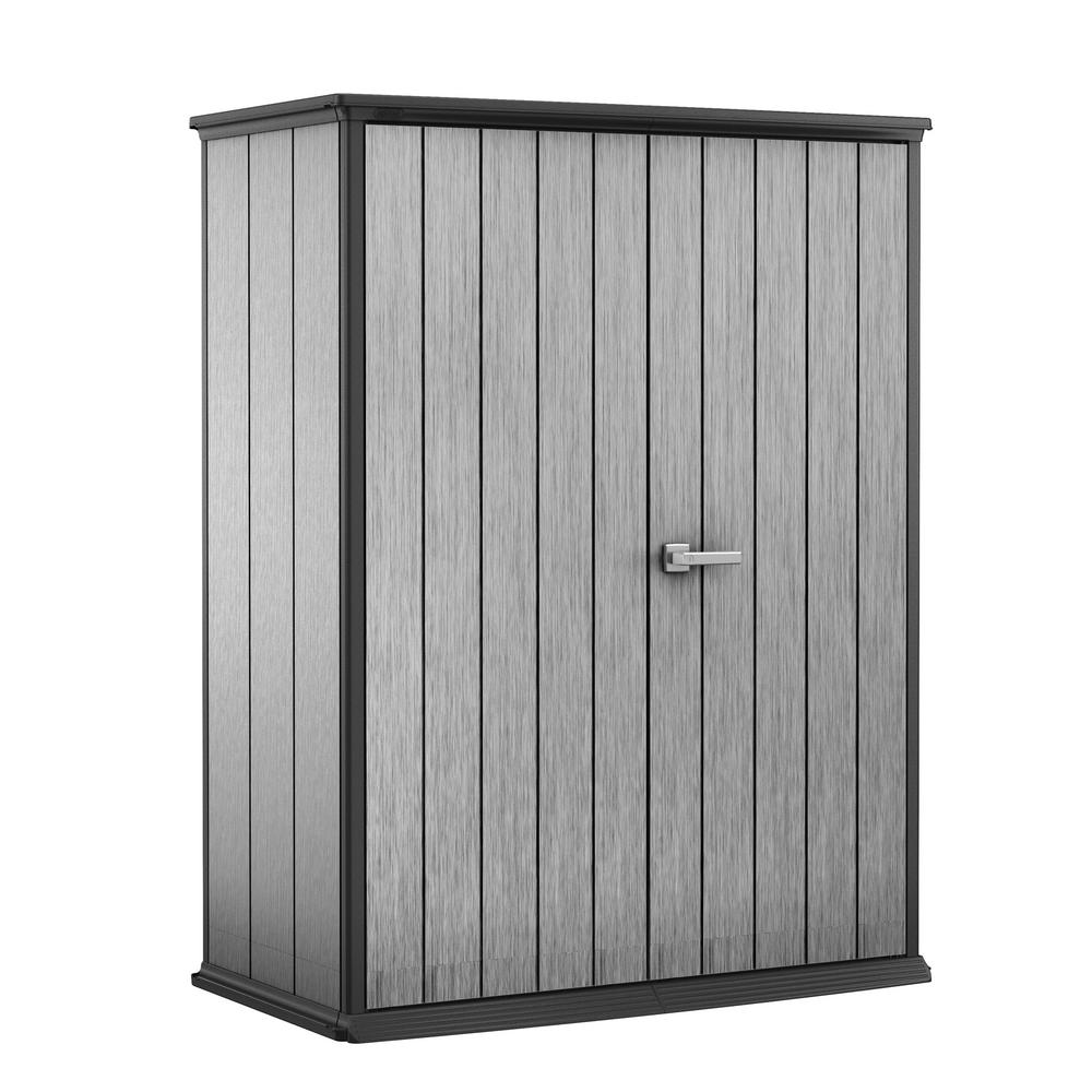 Keter High Store 4.6 ft. x 2.5 ft. x 5.10 ft. Resin Vertical Storage Shed
