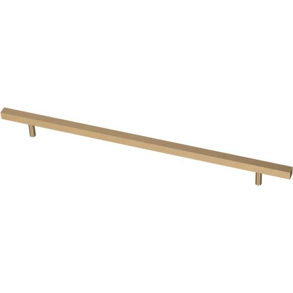 Square Bar 12 in. (305 mm) Champagne Bronze Cabinet Pull
