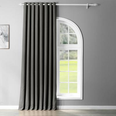 Semi-Opaque Anthracite Grey Grommet Doublewide Blackout Curtain - 100 in. W x 84 in. L (1 Panel)