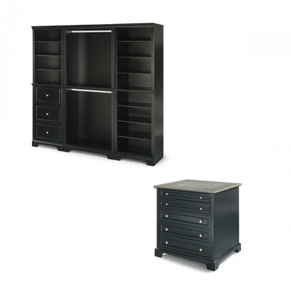 Home Styles Bedford Black Armoire 5531-7591