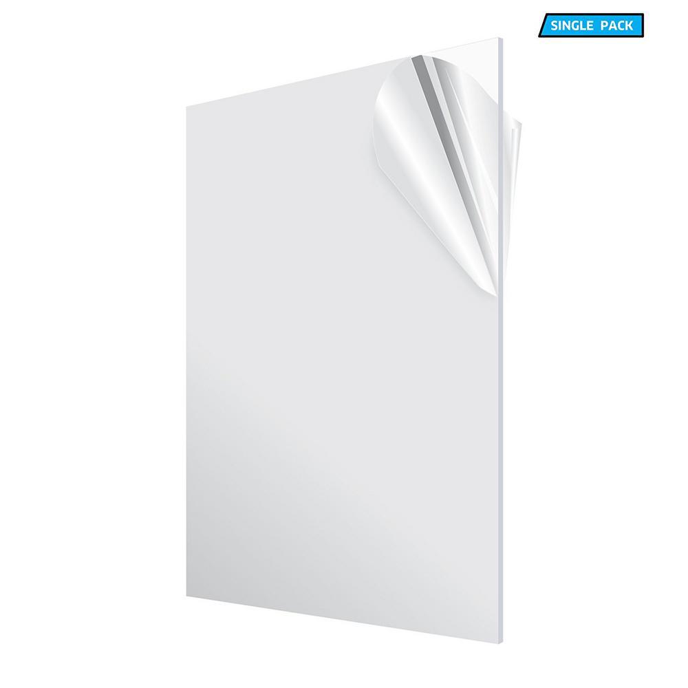 "Clear Cast Acrylic Plexiglass Plastic Sheet 1//2/"" x 24/"" x 48/"""