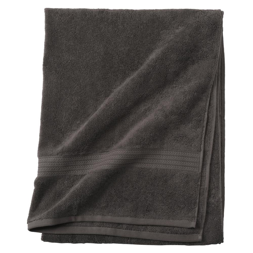 Newport 1-Piece Bath Sheet in Charcoal