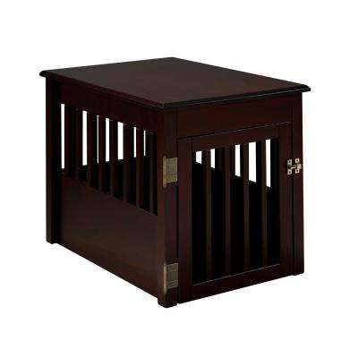 Ruffluv Cappuccino End Table Pet Crate - Medium