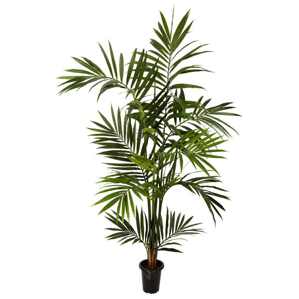 Nearly Natural 6 ft. Green Kenitia Palm Silk Tree