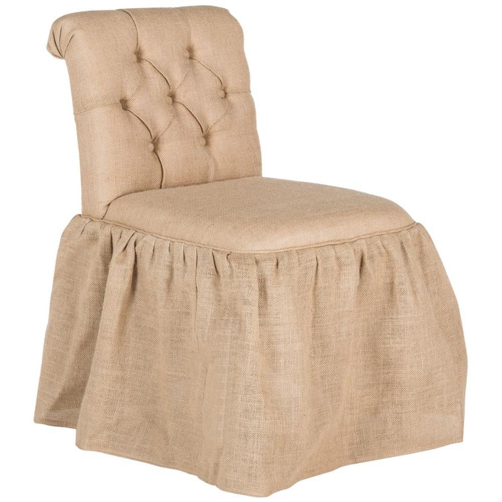 Allie Beige Jute Vanity Chair
