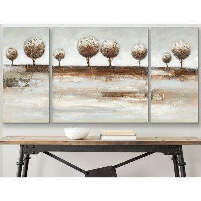 "31.5 in. x 31.5 in. ""3-Piece Tree Landscape"" Wall Art"