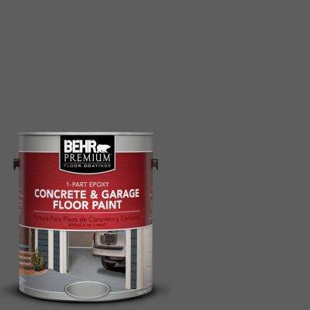 1 gal. #N520-6 Asphalt Gray 1-Part Epoxy Concrete and Garage Floor Paint