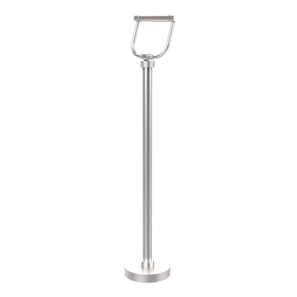 Free Standing Toilet Paper Holder in Satin Chrome