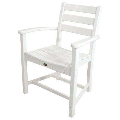Monterey Bay Classic White Patio Dining Arm Chair