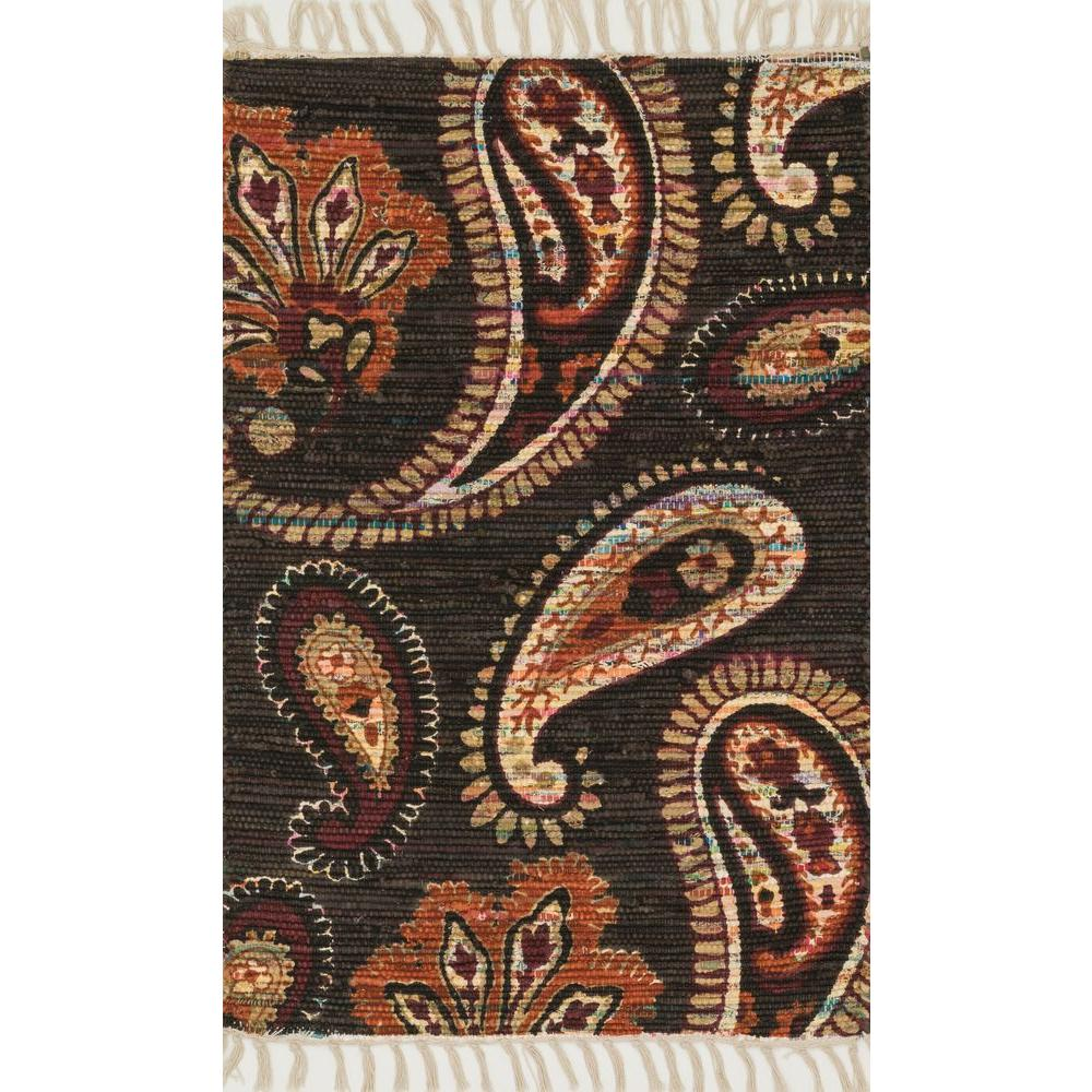 Loloi Rugs Aria Lifestyle Collection Chocolate/Rust 1 ft. 8 in. x 3 ft. Area Rug