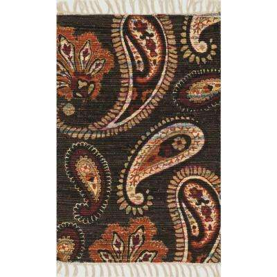 Aria Lifestyle Collection Chocolate/Rust 1 ft. 8 in. x 3 ft. Area Rug