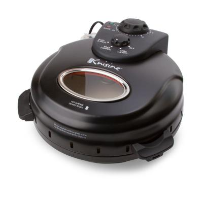 12 in. Black Electric Oven Pizza Maker with Lid