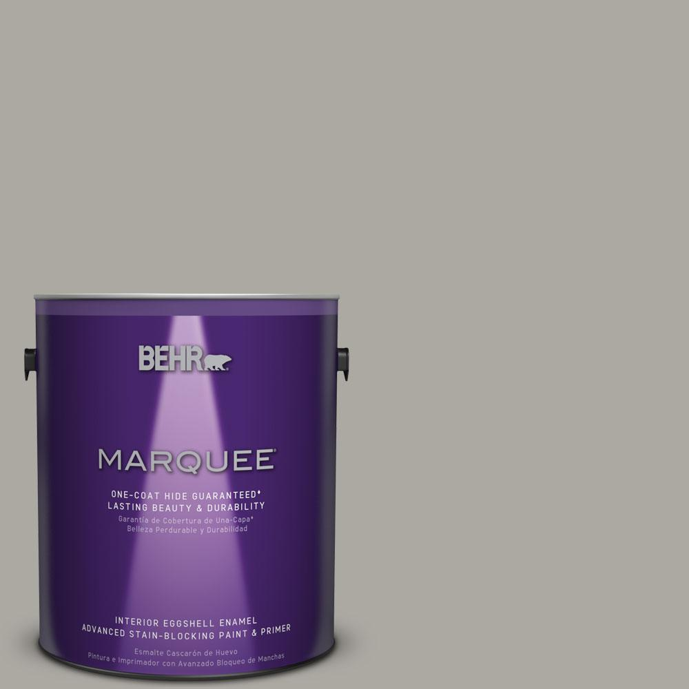 BEHR MARQUEE 1 gal. #N360-3 Still Gray One-Coat Hide Eggshell Enamel Interior Paint, Grays