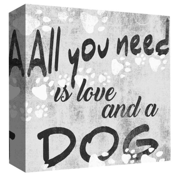Ptm Images 15 In X 15 In All You Need I Love By Ptm Images Printed Canvas Wall Art 9 85545 The Home Depot