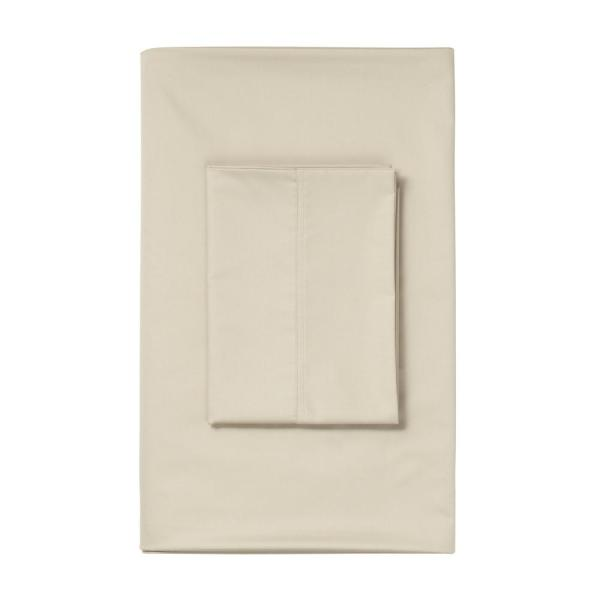 The Company Store Alabaster 450 Thread Count Sateen King Flat Sheet