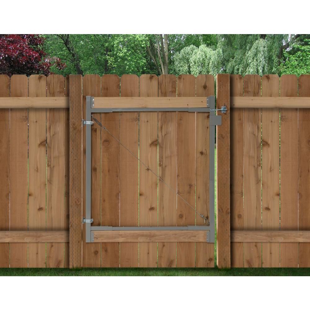 adjustagate consumer series 36 in72 in wide steel gate opening gate frame kitag 72 the home depot