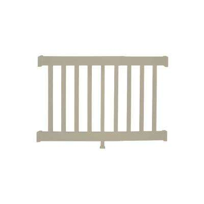 Walton 3 ft. H x  4 ft. W Khaki Vinyl Railing Kit
