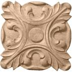 1/2 in. x 2-3/4 in. x 2-3/4 in. Unfinished Wood Maple Acanthus Rosette