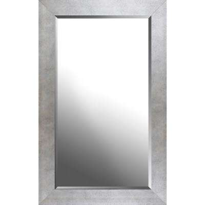 26.50 in. x 42.50 in. x 0.75 in. Champagne Silver Beveled Decorative Wall Mirror