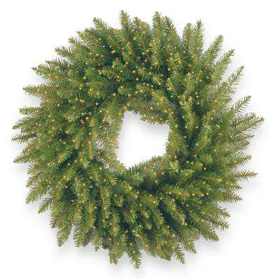 24 in. Battery Operated Kingswood Fir Wreath with Infinity Lights