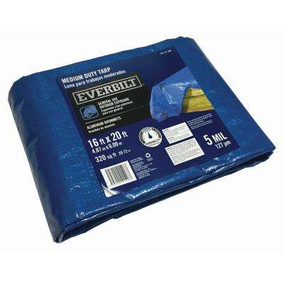 16 ft. x 20 ft. Blue General Purpose Tarp