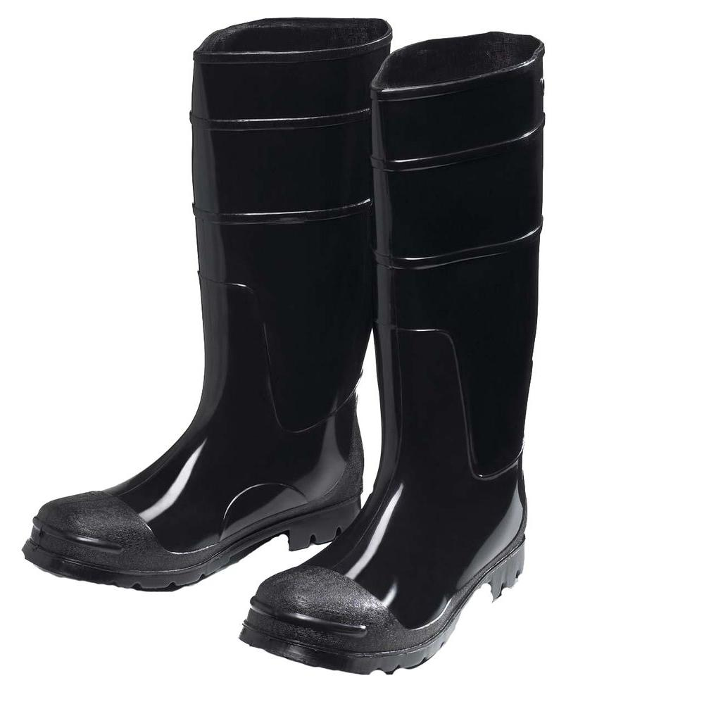 PVC Black Steel Toe/Steel Shank Boot