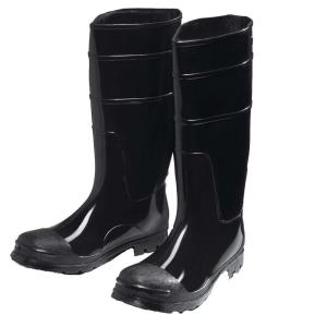 West Chester Black PVC Steel Toe Boot Size14 by West Chester