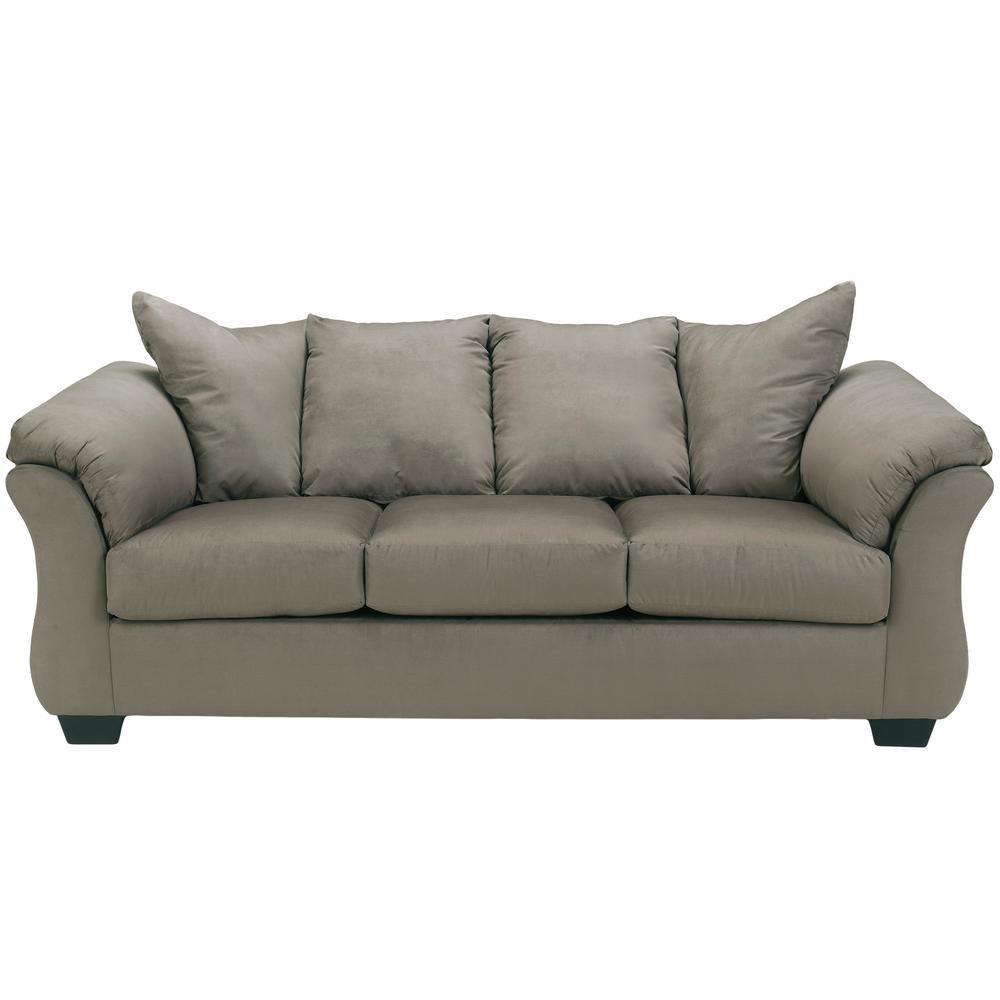 Signature Design By Ashley Darcy Cobblestone Fabric Sofa