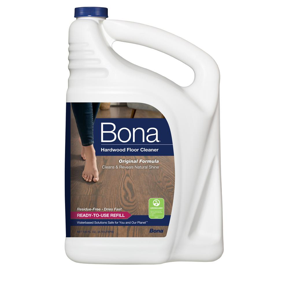 Bona 128 Oz Hardwood Cleaner Wm700018159 The Home Depot
