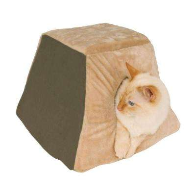 Thermo-Kitty Cabin Small Mocha Heated Cat Shelter