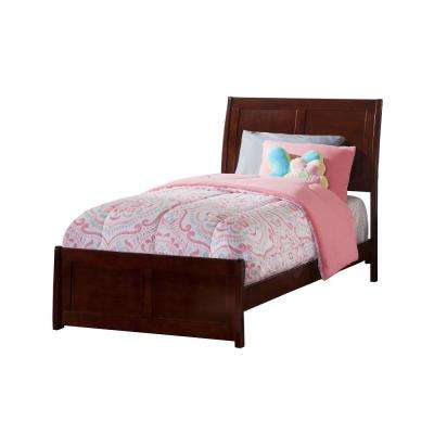 Portland Walnut Twin Xl Traditional Bed With Matching Foot Board