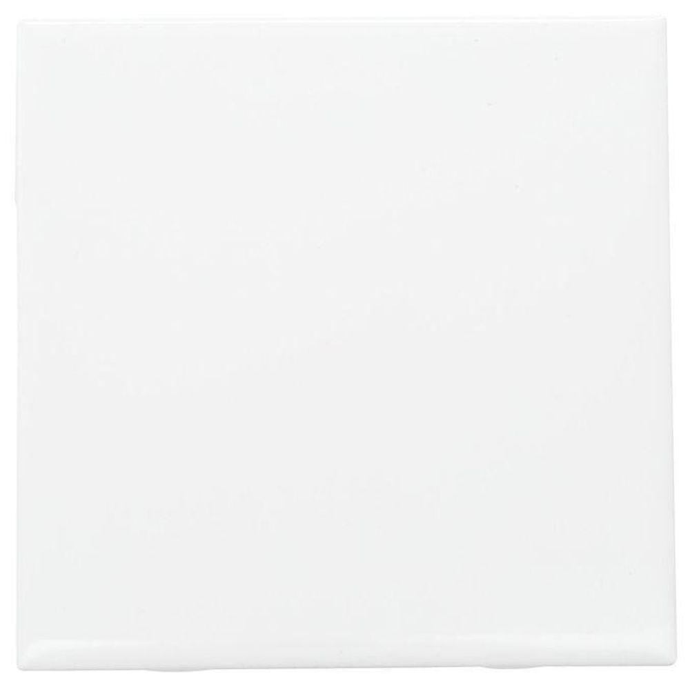 Daltile Semi Gloss White 6 In X 6 In Ceramic Wall Tile