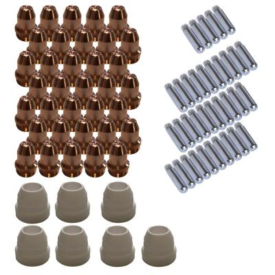 Plasma Cutter Consumables Sets for Brown Color LT5000D and Brown Color CT520D (77-Piecee)