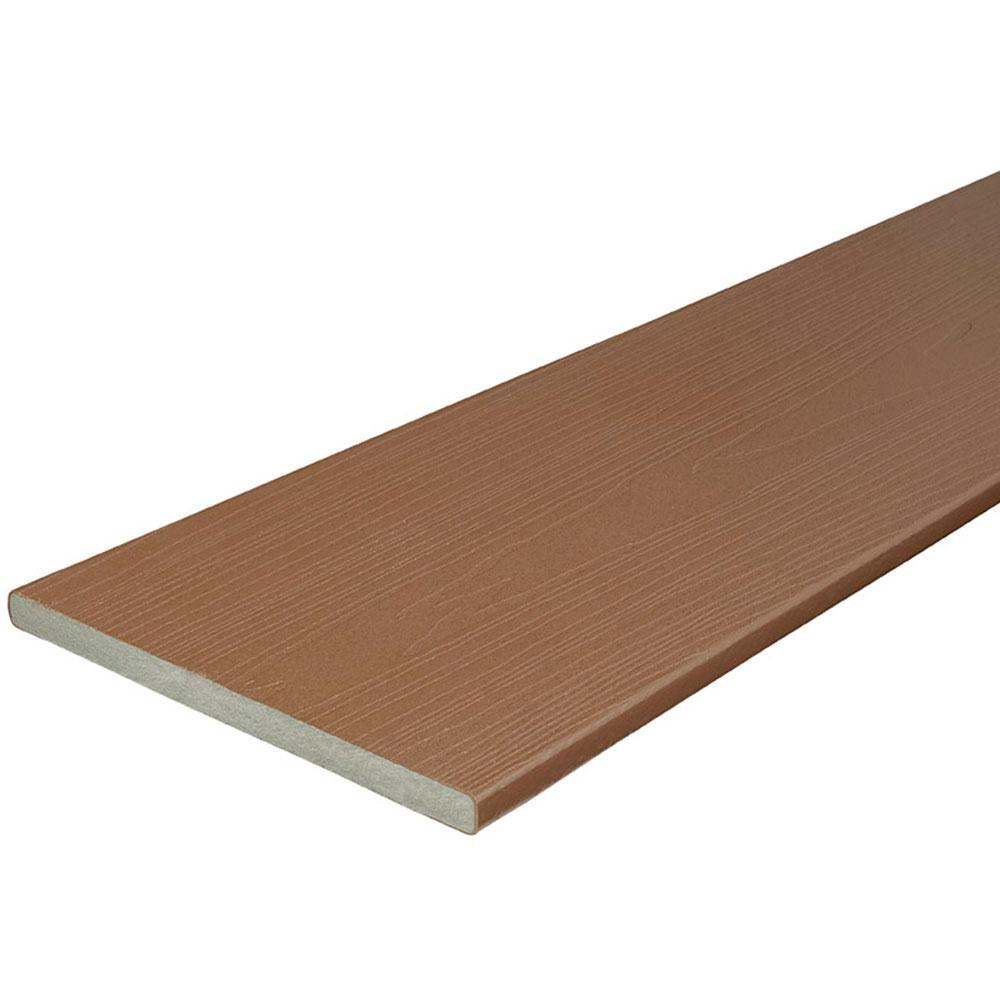 Veranda 3/4 in. x 11-1/4 in. x 12 ft. Cabin Capped Composite Fascia Decking Board
