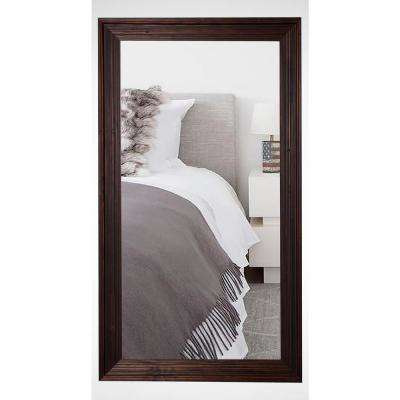 21.25 in. x 60.25 in. Barnwood Brown Rounded Beveled Slender Body Mirror