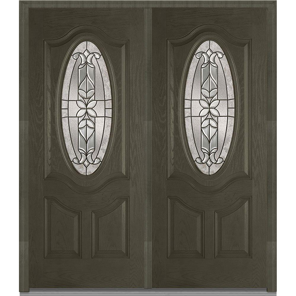 Mmi Door 74 In X 81 75 In Cadence Decorative Glass 3 4