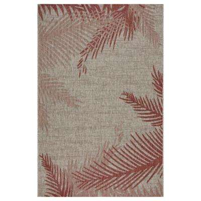 Captiva Red / Beige 7 ft. 9 in. x 9 ft. 5 in. Rectangle Indoor/Outdoor Area Rug