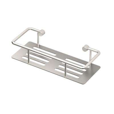 Elegant 10 in. W Shower Shelf in Satin Nickel