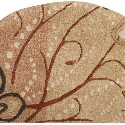 Fremont Tan Wool 2 ft. x 4 ft. Hearth Area Rug