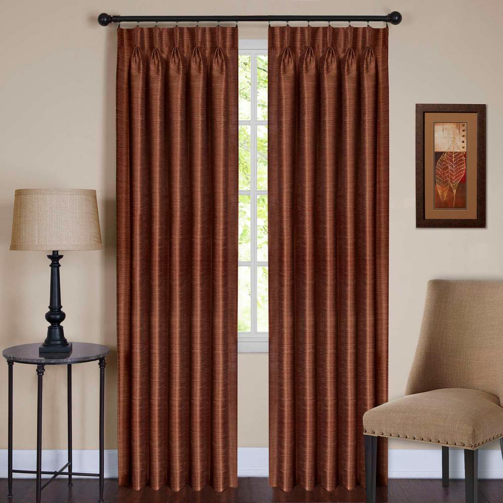 Parker Spice Pinch Pleat Window Curtain Panel - 34 in. W