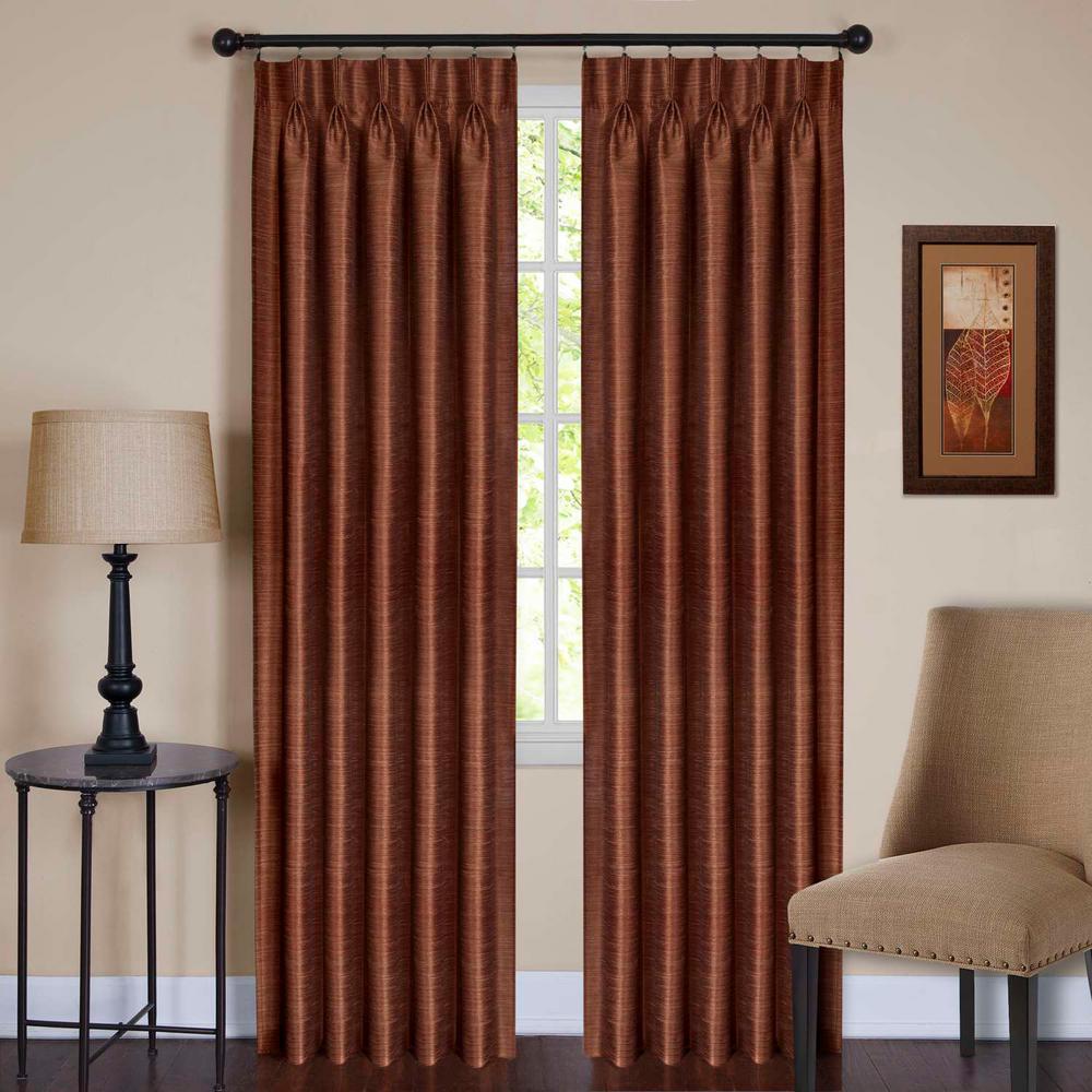 Parker Pinch Pleat Window Curtain Panel