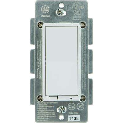 Z-Wave 600 Watt CFL-LED Indoor In-Wall Dimmer Switch, Almond/White Paddles