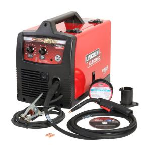 Lincoln Electric 125 Amp Weld-Pak 125 HD Flux-Cored Welder with Magnum 100L Gun, Flux-Cored Wire, 115V by Loln Electric