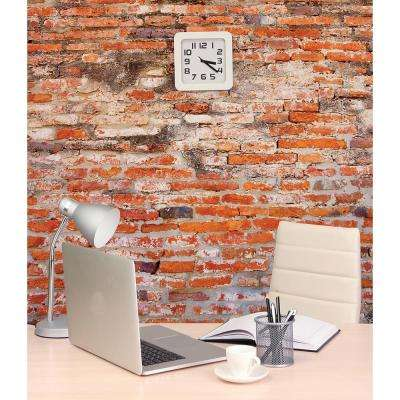 118 in. x 98 in. Red Brick Wall Mural
