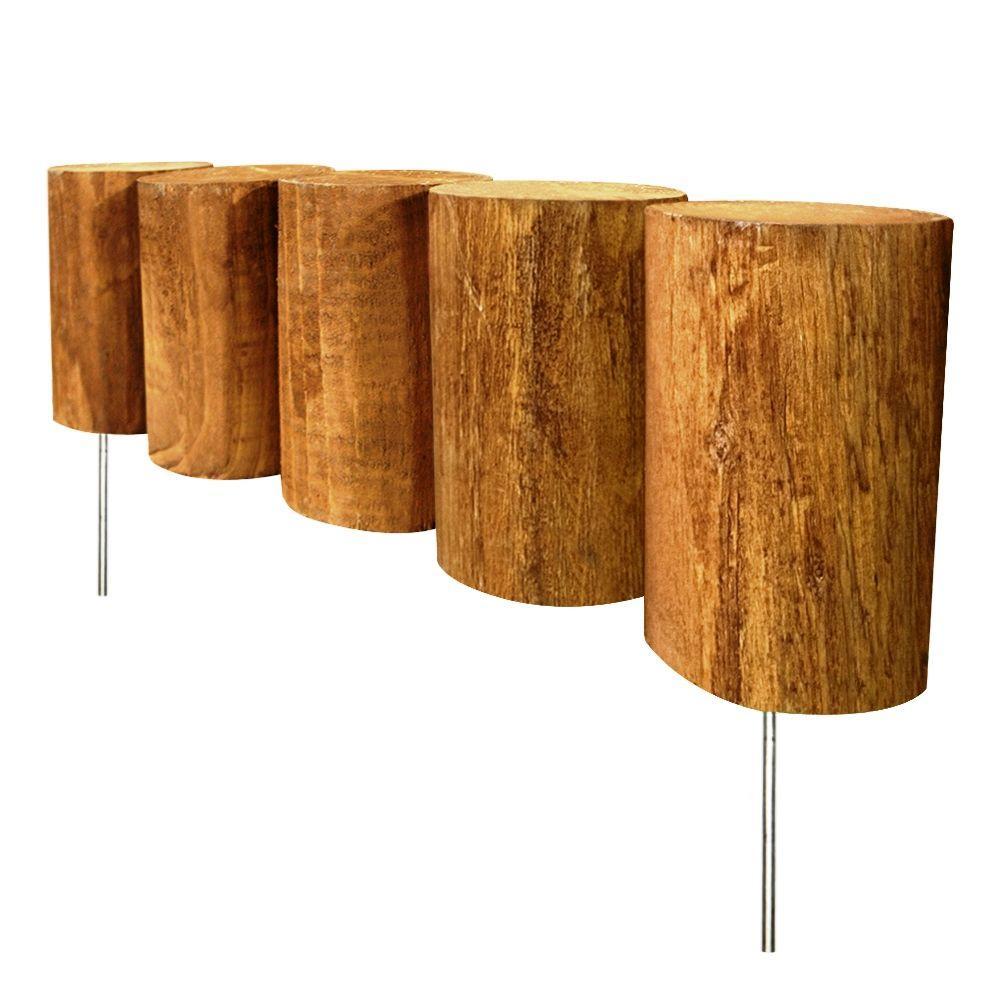 Vigoro 1.3 ft. Wood Full-Log Edging